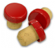 Plastic Top Flanged Wine Corks red (25s)